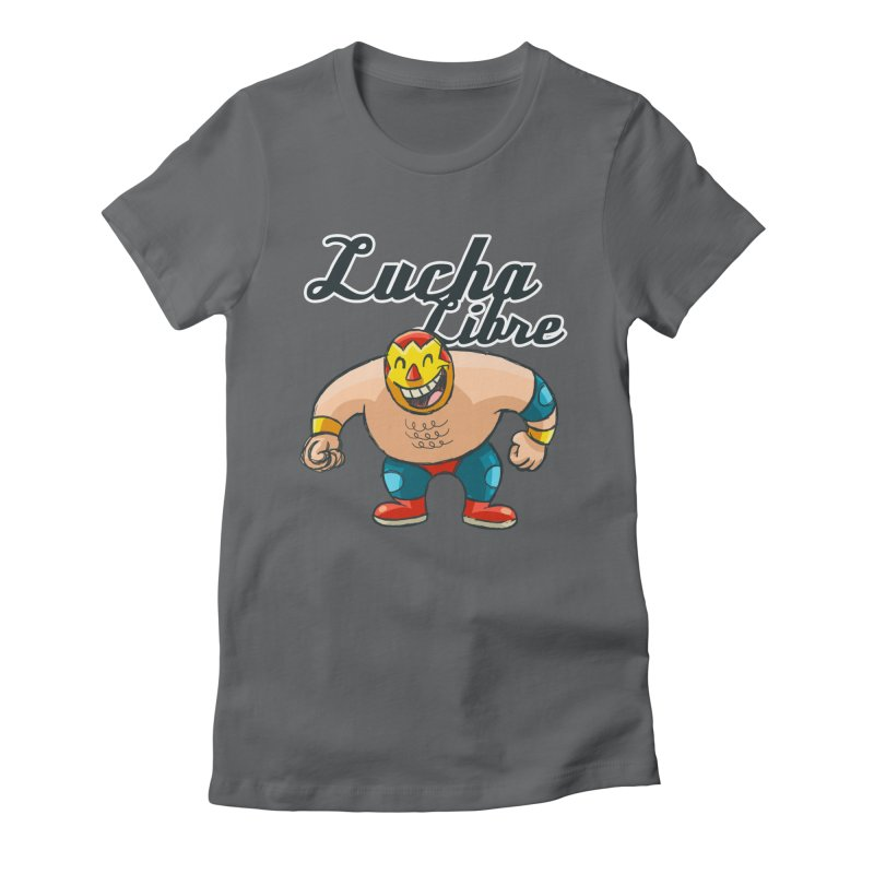 Lucha Libre Women's Fitted T-Shirt by Outsider_Design Artist Shop