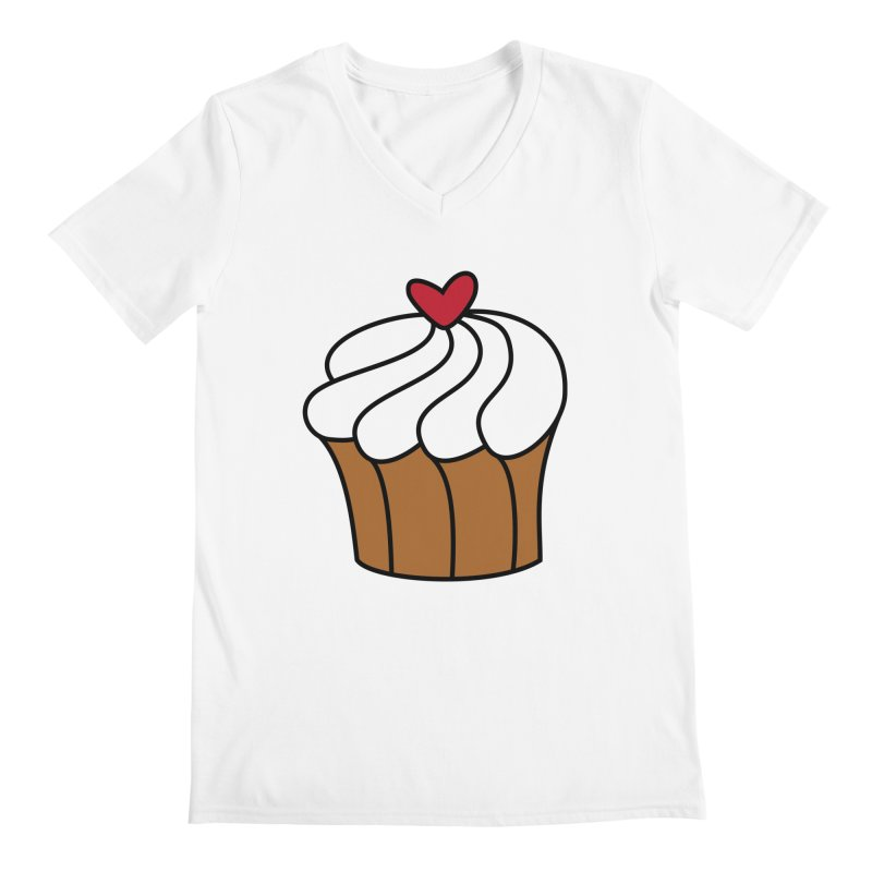 Cute as a cupcake Men's V-Neck by Outspoken Images