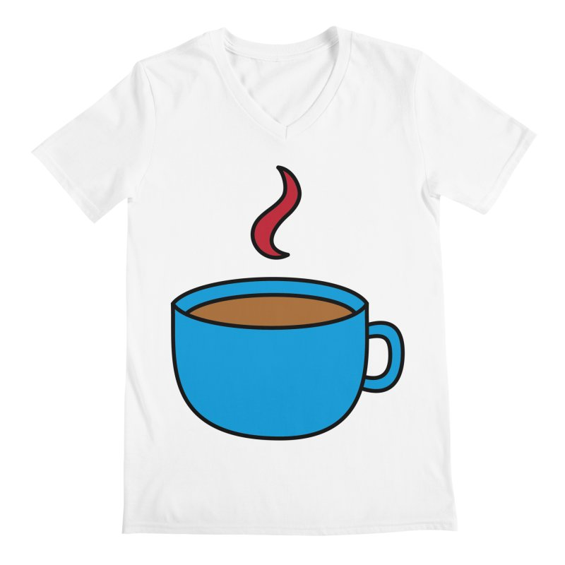 A cuppa? Men's V-Neck by Outspoken Images