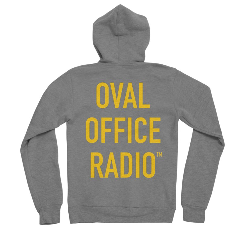 Oval Office Radio Men's Sponge Fleece Zip-Up Hoody by Oval Office Radio