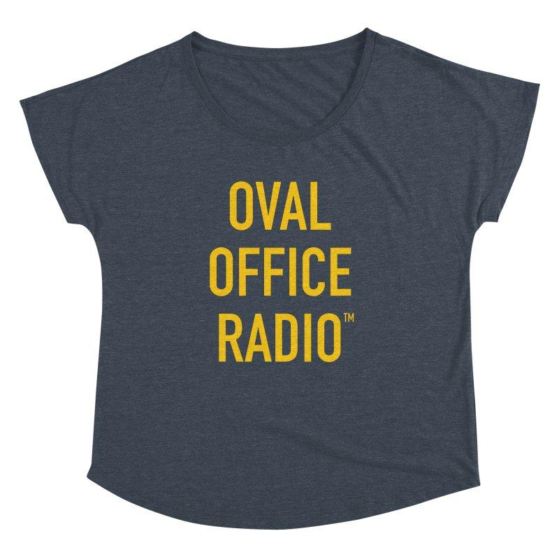 Oval Office Radio Women's Dolman Scoop Neck by Oval Office Radio