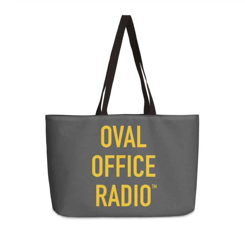 Oval Office Radio Accessories Weekender Bag Bag by Oval Office Radio