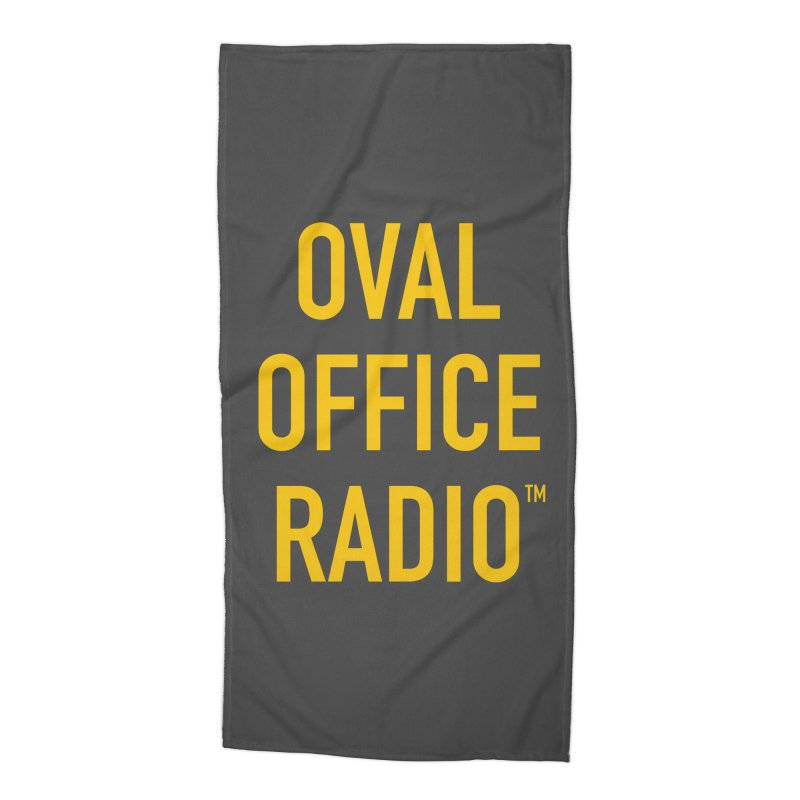 Oval Office Radio Accessories Beach Towel by Oval Office Radio
