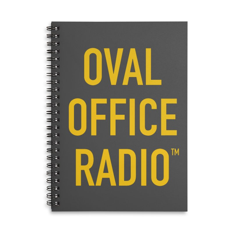Oval Office Radio Accessories Lined Spiral Notebook by Oval Office Radio