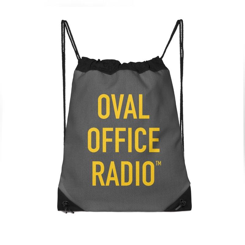 Oval Office Radio Accessories Drawstring Bag Bag by Oval Office Radio