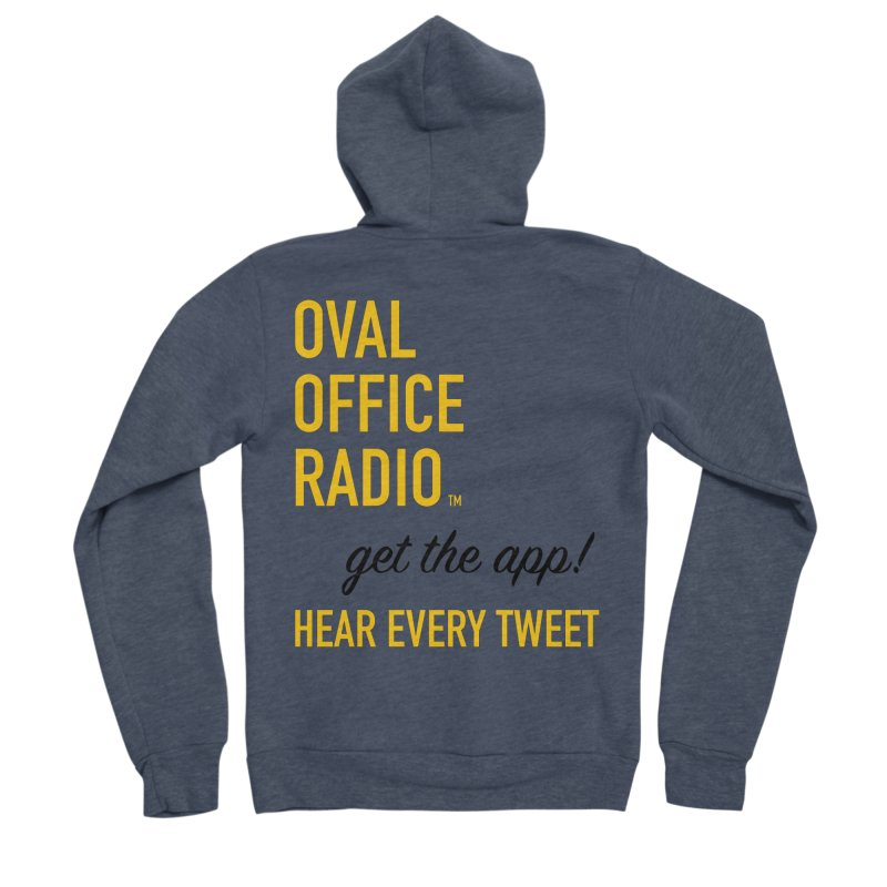 New design incorporating suggestions Men's Sponge Fleece Zip-Up Hoody by Oval Office Radio