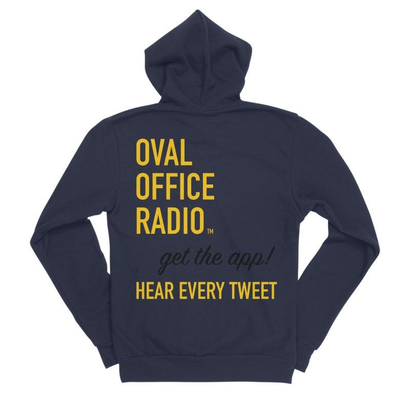 New design incorporating suggestions Men's Sponge Fleece Zip-Up Hoody by Oval Office Radio