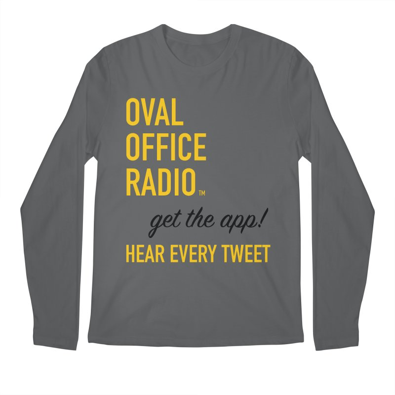 New design incorporating suggestions Men's Longsleeve T-Shirt by Oval Office Radio