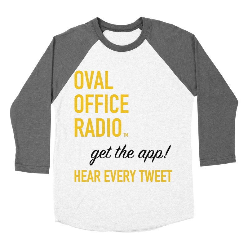 New design incorporating suggestions Women's Baseball Triblend Longsleeve T-Shirt by Oval Office Radio