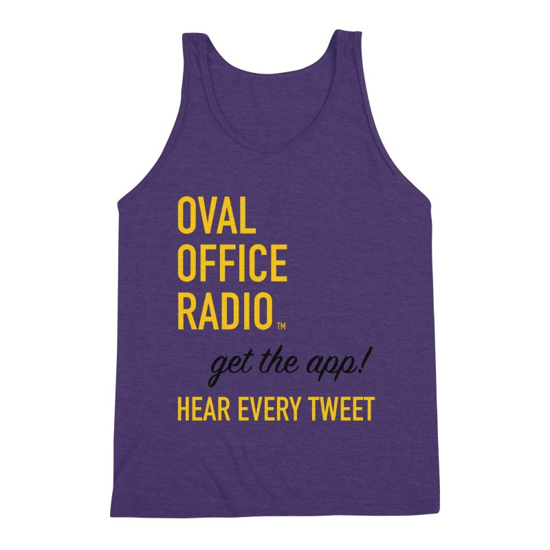 New design incorporating suggestions Men's Triblend Tank by Oval Office Radio