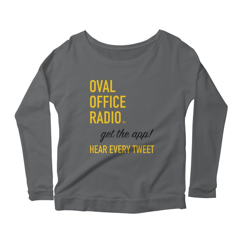 New design incorporating suggestions Women's Scoop Neck Longsleeve T-Shirt by Oval Office Radio