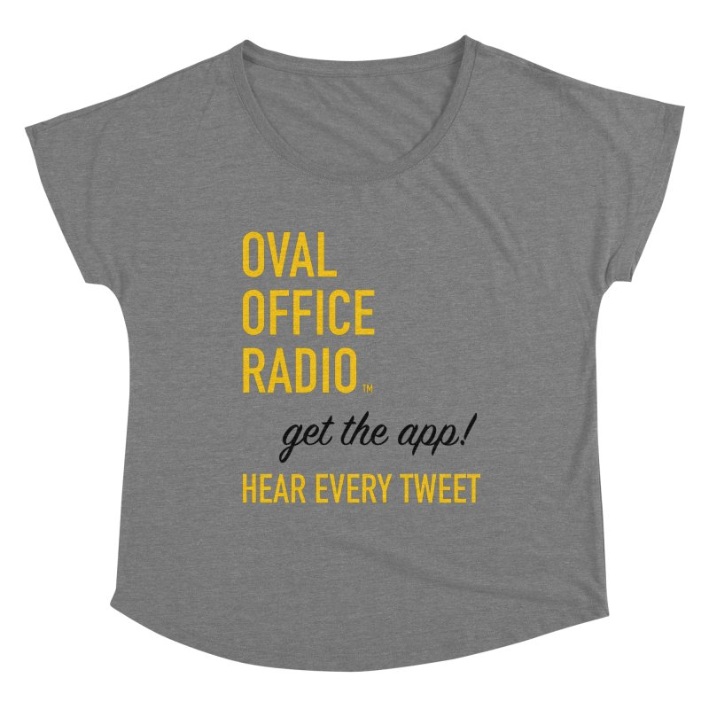 New design incorporating suggestions Women's Scoop Neck by Oval Office Radio