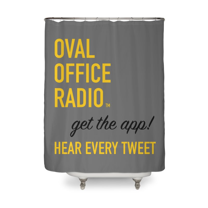 New design incorporating suggestions Home Shower Curtain by Oval Office Radio