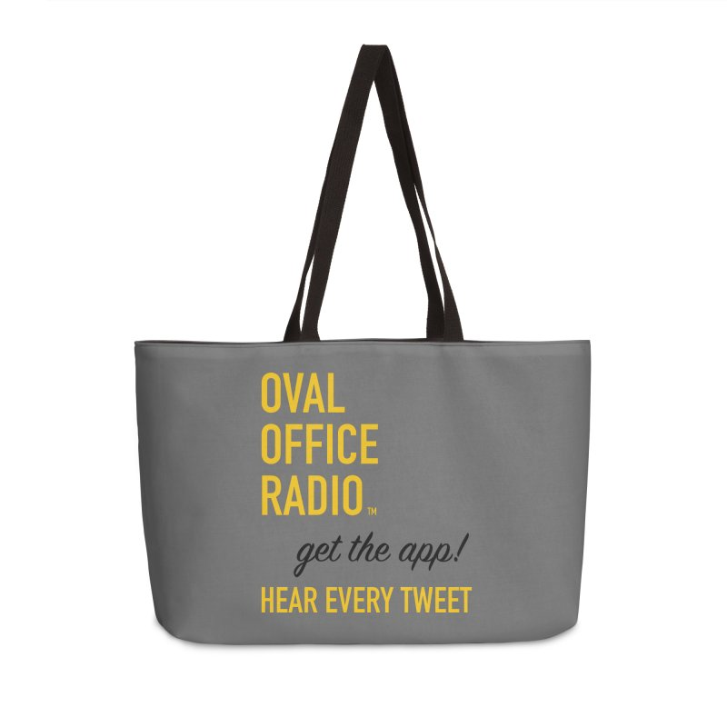 New design incorporating suggestions Accessories Weekender Bag Bag by Oval Office Radio