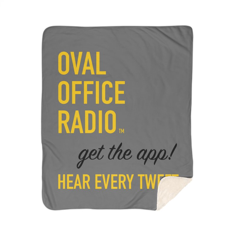 New design incorporating suggestions Home Sherpa Blanket Blanket by Oval Office Radio