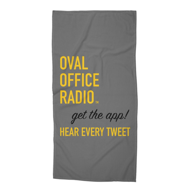 New design incorporating suggestions Accessories Beach Towel by Oval Office Radio