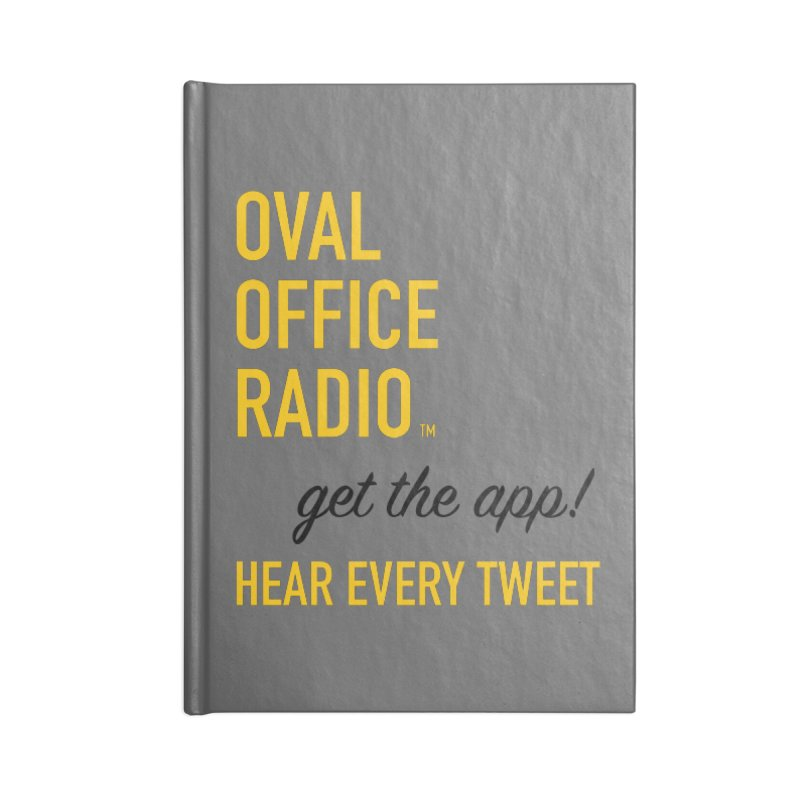 New design incorporating suggestions Accessories Lined Journal Notebook by Oval Office Radio