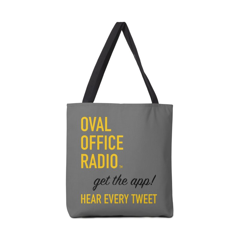 New design incorporating suggestions Accessories Tote Bag Bag by Oval Office Radio