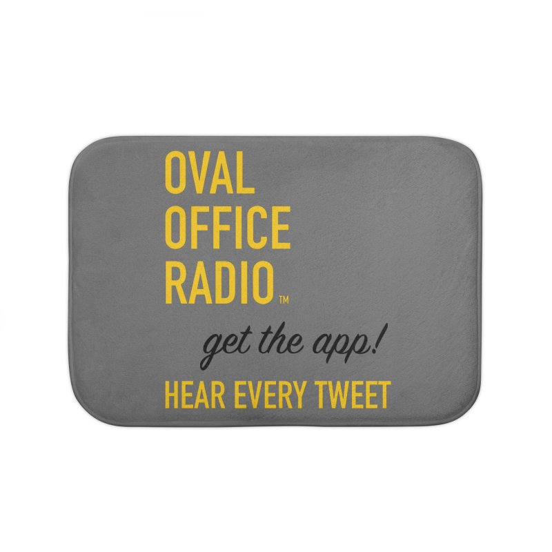 New design incorporating suggestions Home Bath Mat by Oval Office Radio