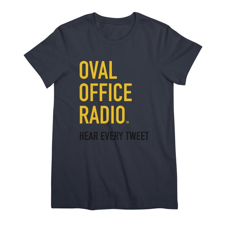 New design, minimalist Women's Premium T-Shirt by Oval Office Radio