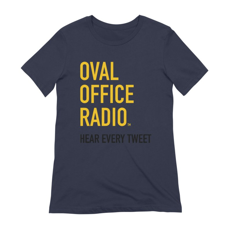 New design, minimalist Women's Extra Soft T-Shirt by Oval Office Radio