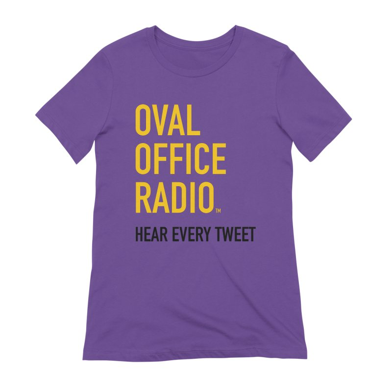 New design, minimalist Women's Extra Soft T-Shirt by Oval Office Radio