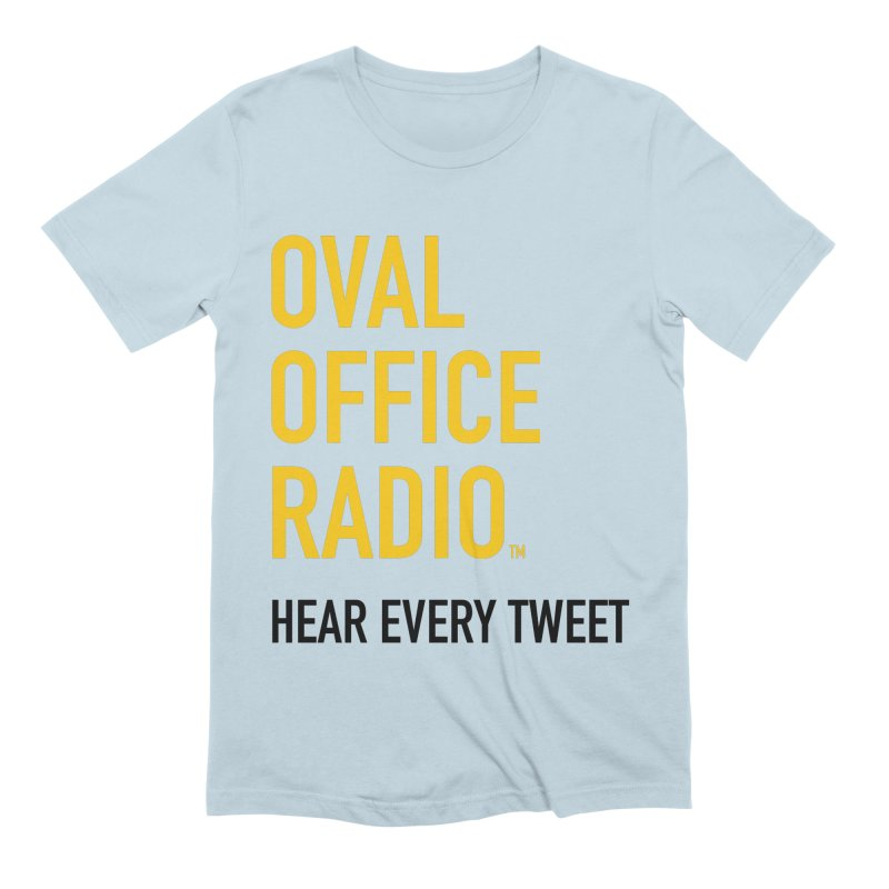 New design, minimalist Men's Extra Soft T-Shirt by Oval Office Radio