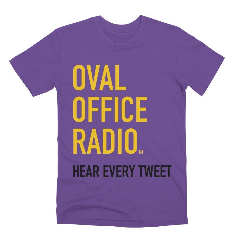 New design, minimalist Men's Premium T-Shirt by Oval Office Radio