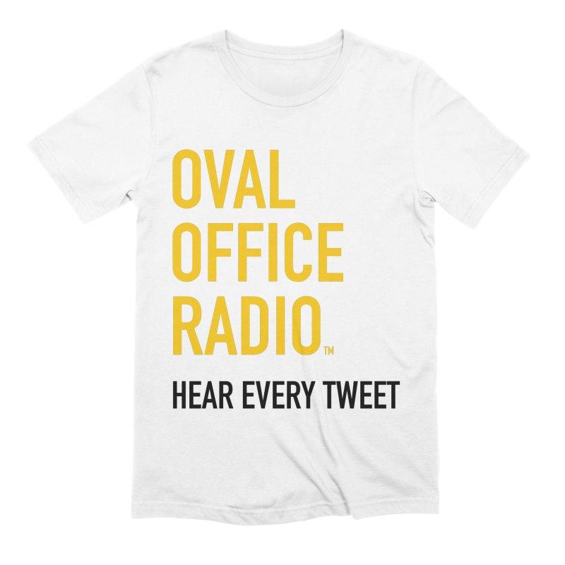 New design, minimalist Men's T-Shirt by Oval Office Radio