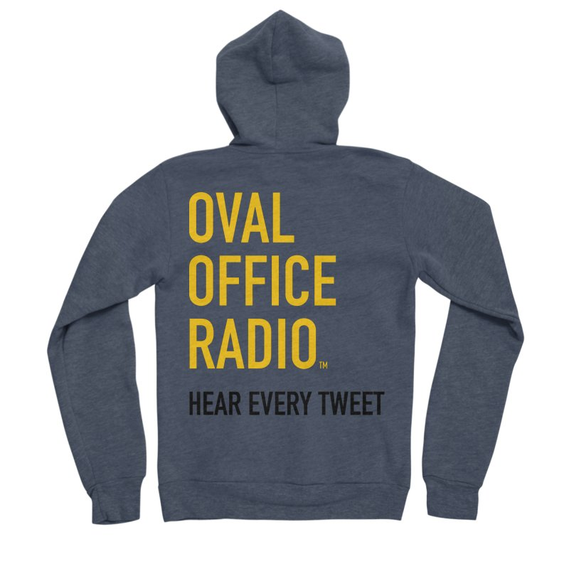 New design, minimalist Men's Sponge Fleece Zip-Up Hoody by Oval Office Radio