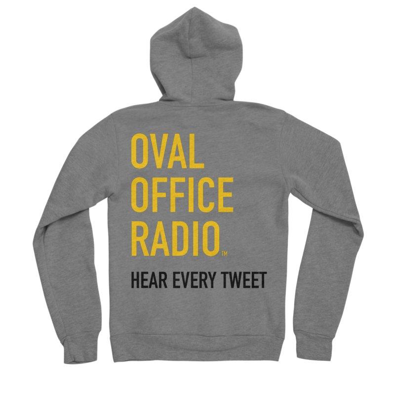 New design, minimalist Women's Sponge Fleece Zip-Up Hoody by Oval Office Radio