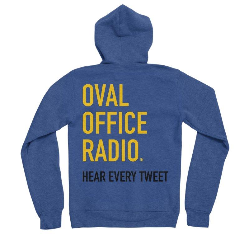 New design, minimalist Men's Sponge Fleece Zip-Up Hoody by Oval Office Radio