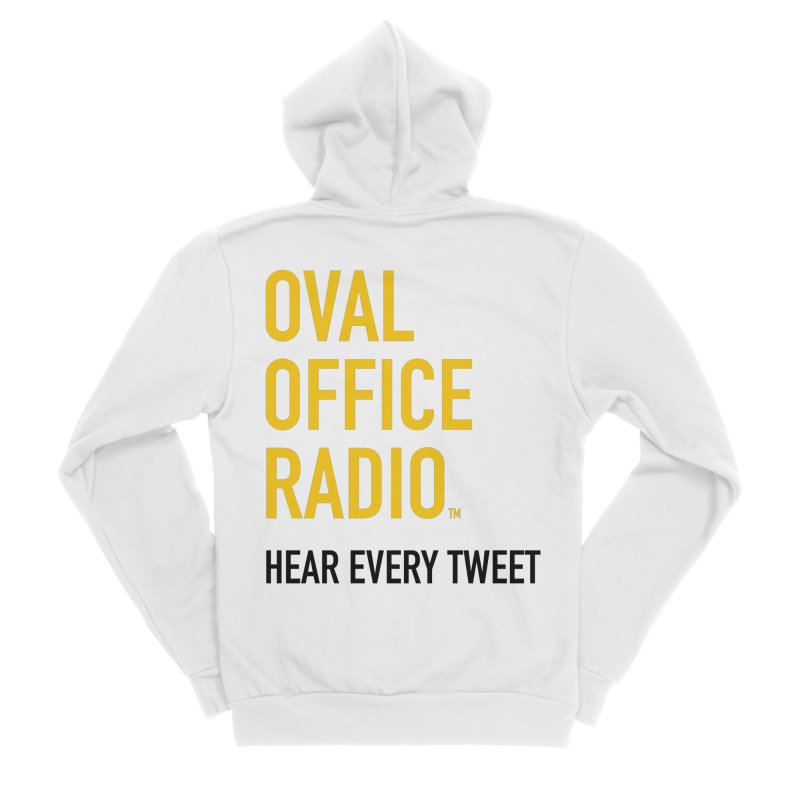 New design, minimalist Women's Zip-Up Hoody by Oval Office Radio