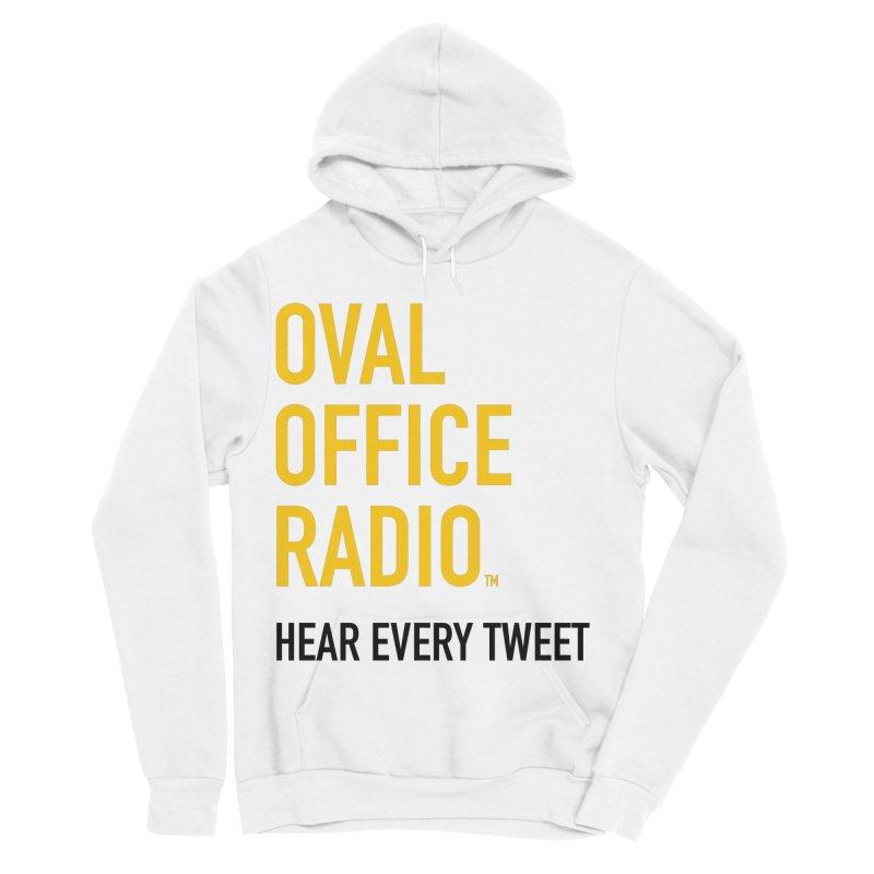 New design, minimalist Men's Sponge Fleece Pullover Hoody by Oval Office Radio