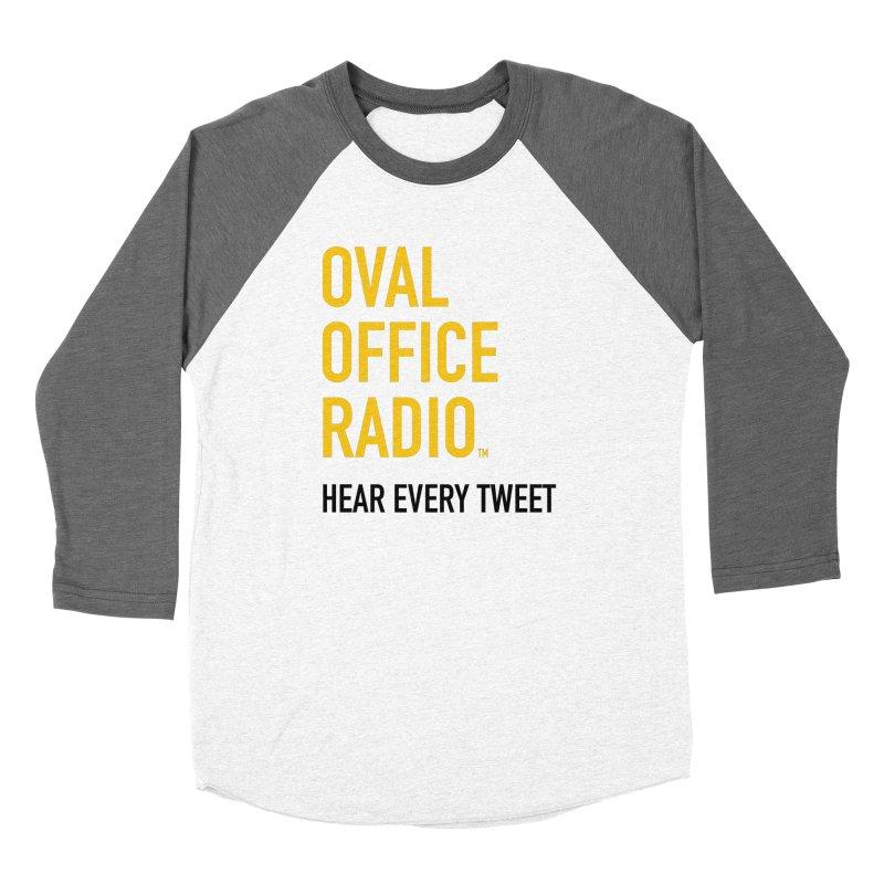 New design, minimalist Men's Baseball Triblend Longsleeve T-Shirt by Oval Office Radio