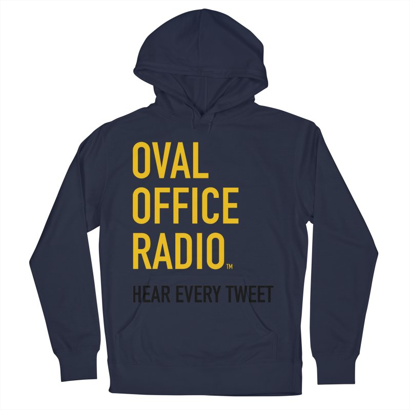 New design, minimalist Women's French Terry Pullover Hoody by Oval Office Radio