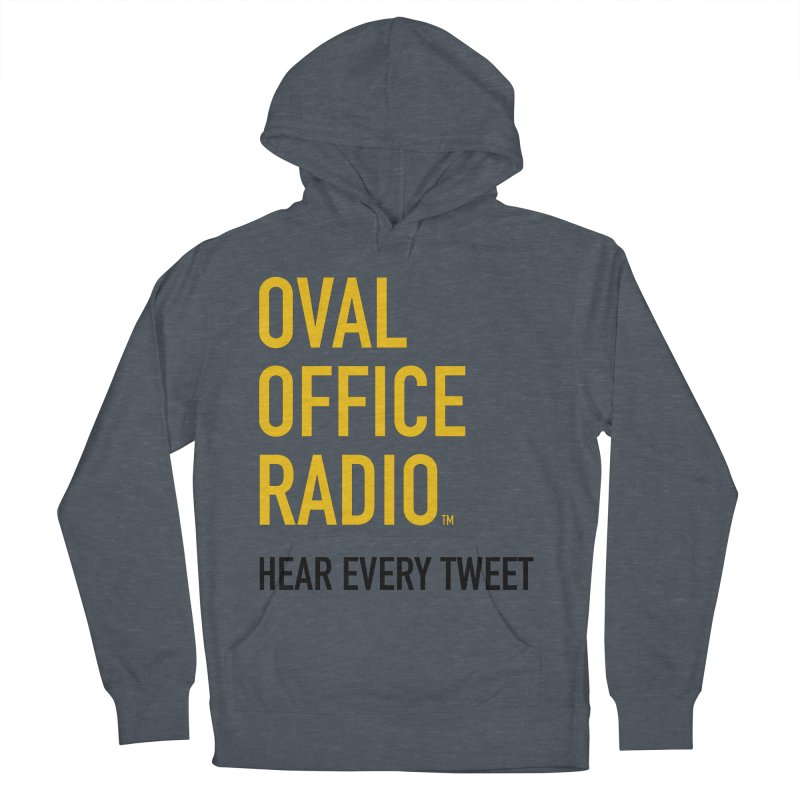 New design, minimalist Men's French Terry Pullover Hoody by Oval Office Radio