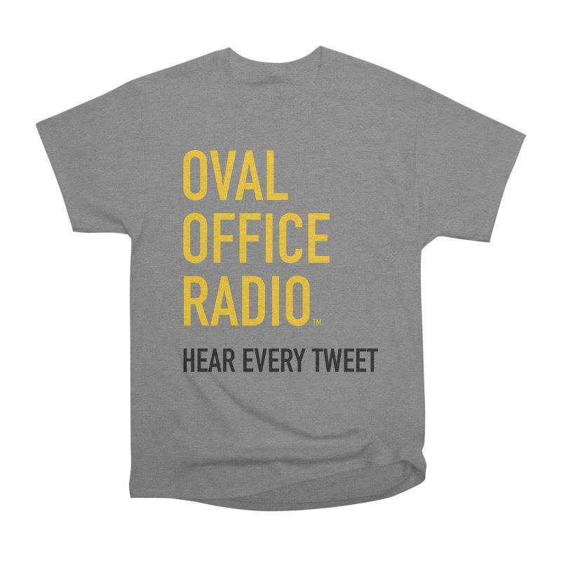 New design, minimalist Men's Heavyweight T-Shirt by Oval Office Radio
