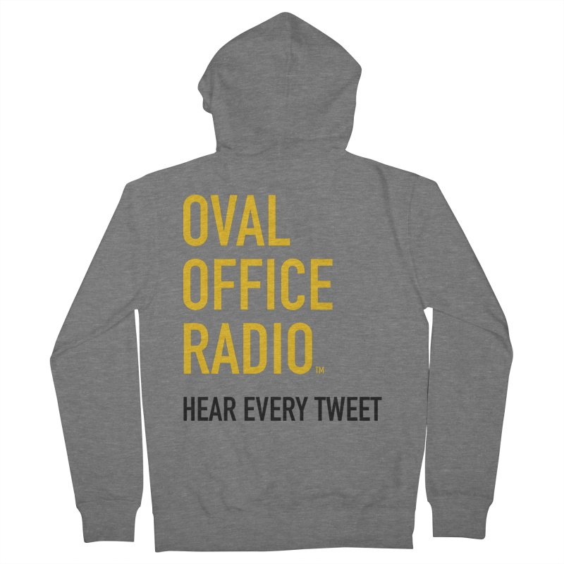 New design, minimalist Men's French Terry Zip-Up Hoody by Oval Office Radio