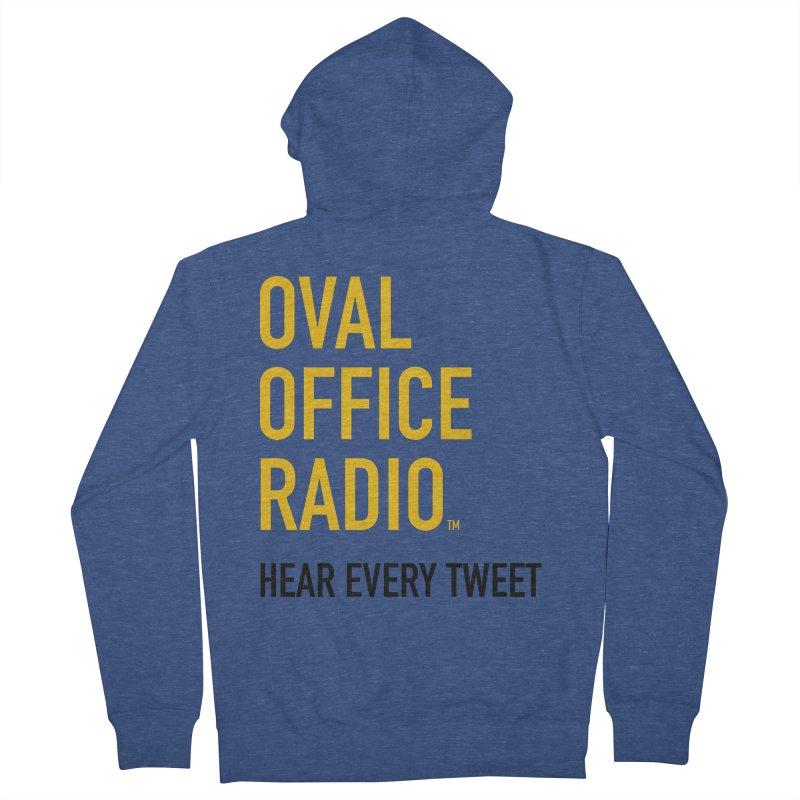 New design, minimalist Men's Zip-Up Hoody by Oval Office Radio