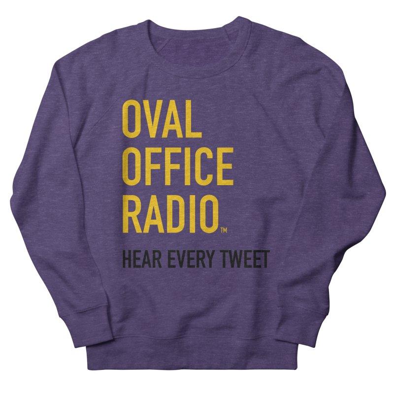 New design, minimalist Women's French Terry Sweatshirt by Oval Office Radio