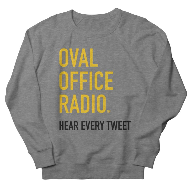 New design, minimalist Men's French Terry Sweatshirt by Oval Office Radio
