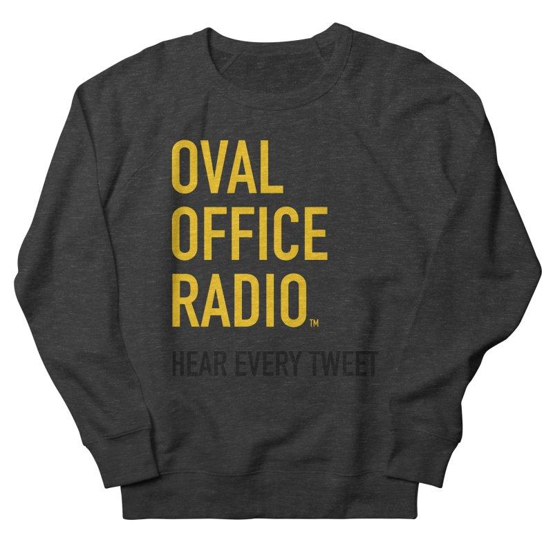 New design, minimalist Men's French Terry Sweatshirt by Oval Office Radio