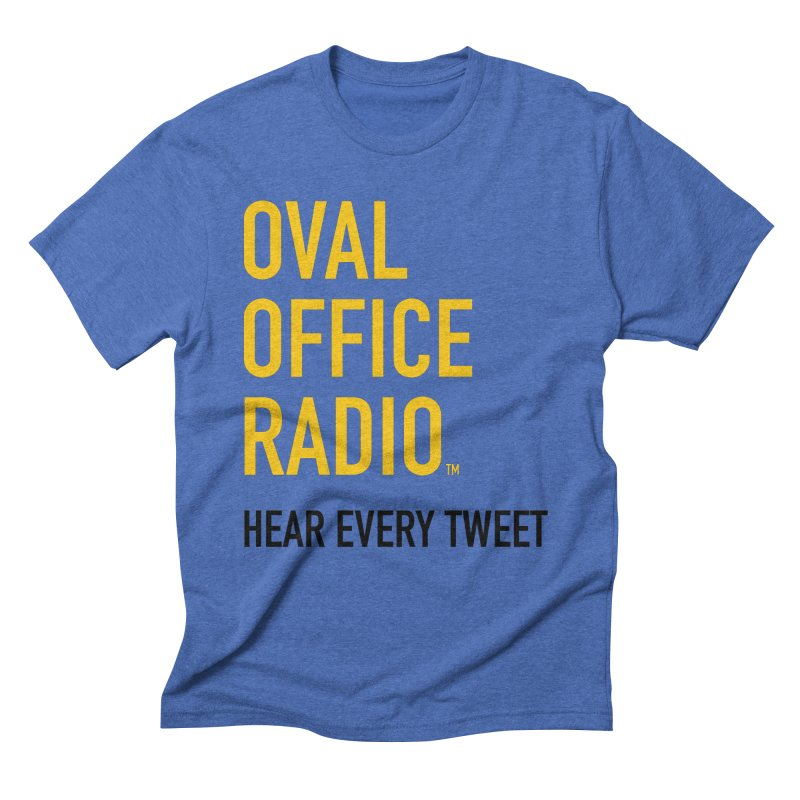 New design, minimalist Men's Triblend T-Shirt by Oval Office Radio