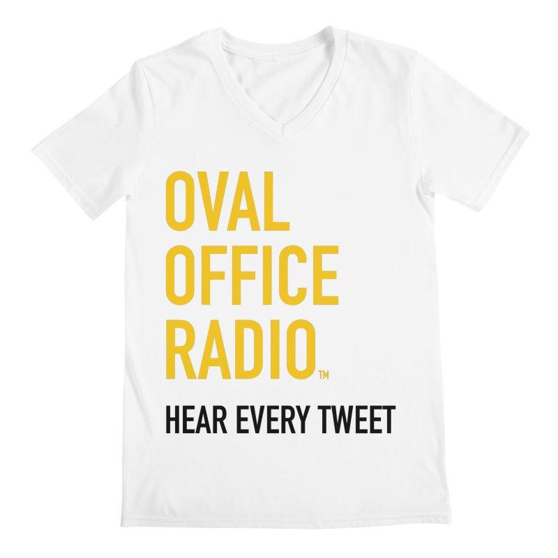 New design, minimalist Men's V-Neck by Oval Office Radio