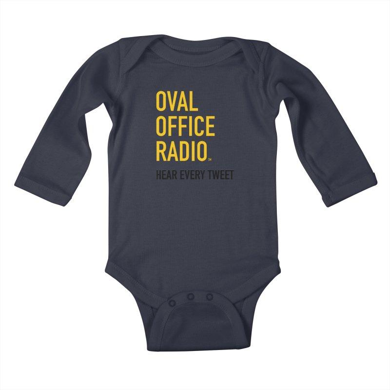 New design, minimalist Kids Baby Longsleeve Bodysuit by Oval Office Radio