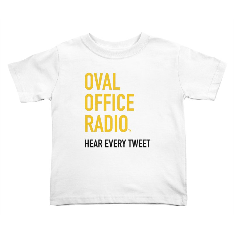 New design, minimalist Kids Toddler T-Shirt by Oval Office Radio