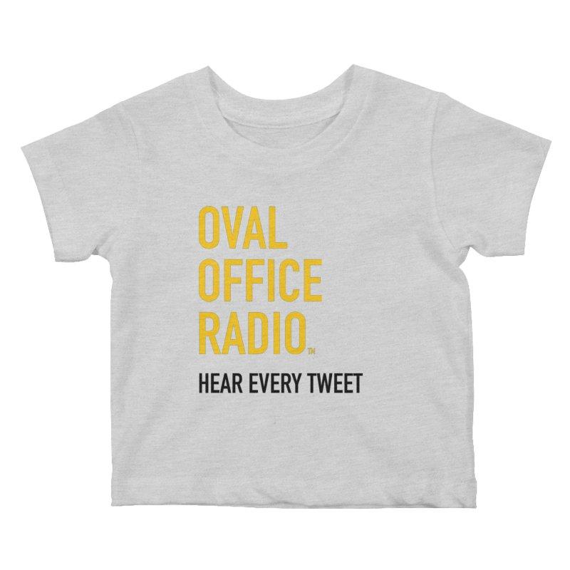 New design, minimalist Kids Baby T-Shirt by Oval Office Radio