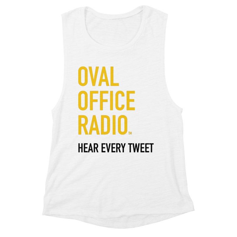 New design, minimalist Women's Muscle Tank by Oval Office Radio
