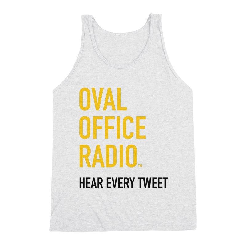 New design, minimalist Men's Triblend Tank by Oval Office Radio